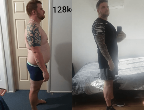 Blair lost 24kg after finding out he was going to be a Dad.